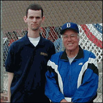 Me and Hall of Famer Duke Snider at the Fallbrook Home Run Derby, February 2001